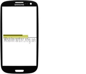 Скло модуля Samsung i9300 original чорне