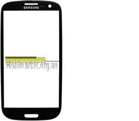 Скло модуля Samsung i9300 original чорне, фото 2