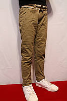 Осенне-весенние котоновые брюки песочного цвета, для подростков 8-16лет(134-164см) (Осень-Весна-2017г)Польша
