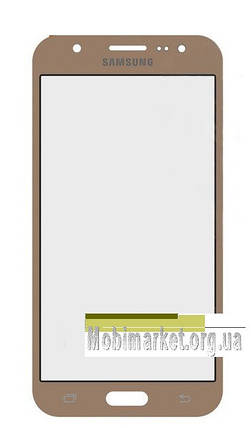 Стекло модуля для Samsung Galaxy J5 J500F / DS, J500H / DS, J500M / DS original золотое, фото 2