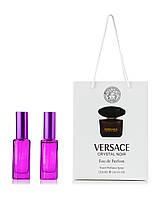 Парфюм 2 шт по 20 мл  в подарочной  упаковке Crystal Noir Versace для женщин
