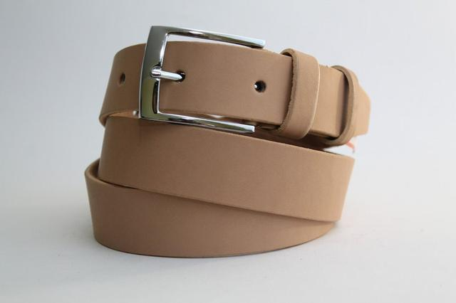 Ремни кожаные с гладкой текстуры 35 мм