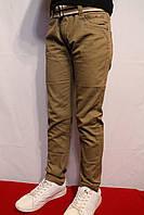 Акция весенне-осенние котоновые брюки песочного цвета, для подростков от 8 до 16 лет (134-164см) Польша.