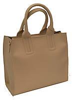 Женская сумка бежевого цвета формата А4 B.Elit