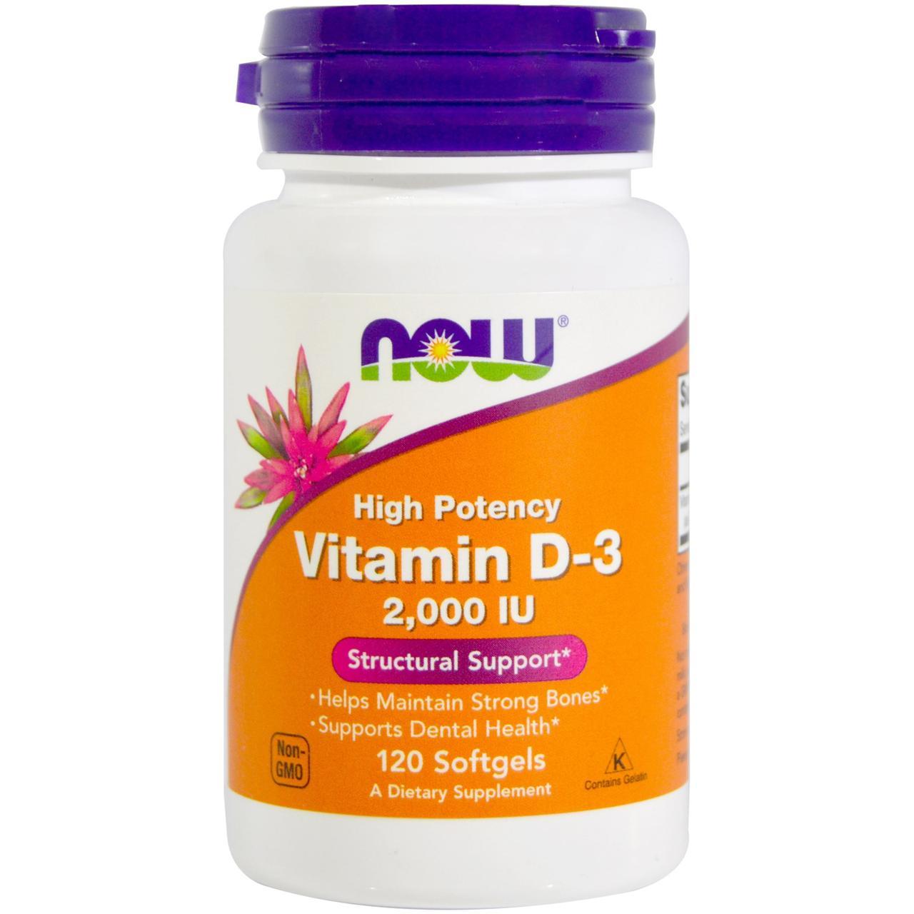 NOW Foods Vitamin D-3 2000 240 softgel