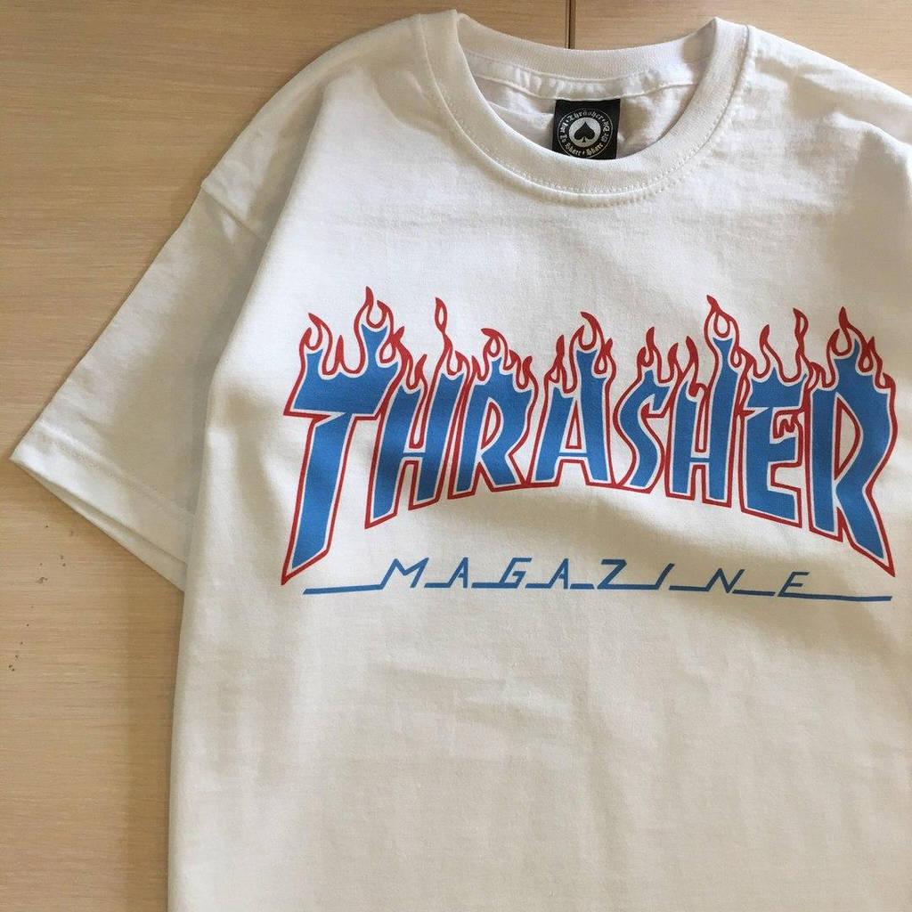 Thrasher magazine футболка  белая / бирка