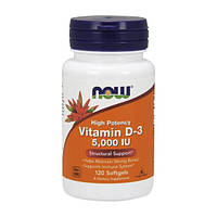 NOW Foods Vitamin D-3 5000 120 softgel
