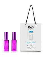 Парфюм 2 по 20 мл в подарочной  упаковке D&G Light Blue Dolce&Gabbana для женщин