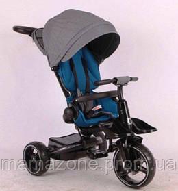 Складной детский трехколесный велосипед-коляска Stokke Modi Crosser 6 в 1 T-600 колеса EVA, серый