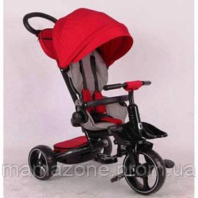 Складной детский трехколесный велосипед-коляска Stokke Modi Crosser 6 в 1 T-600 колеса EVA, красный