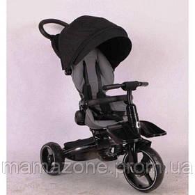 Складной детский трехколесный велосипед-коляска Stokke Modi Crosser 6 в 1 T-600 колеса EVA, черный