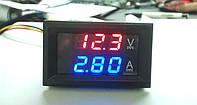 Цифровой амперметр вольтметр постоянного тока встраиваемый DC 0-100в 10a