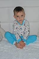 Детская хлопковая пижама для мальчиков