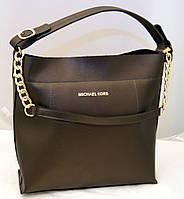 Женская сумка Michael Kors, коричневый металлик
