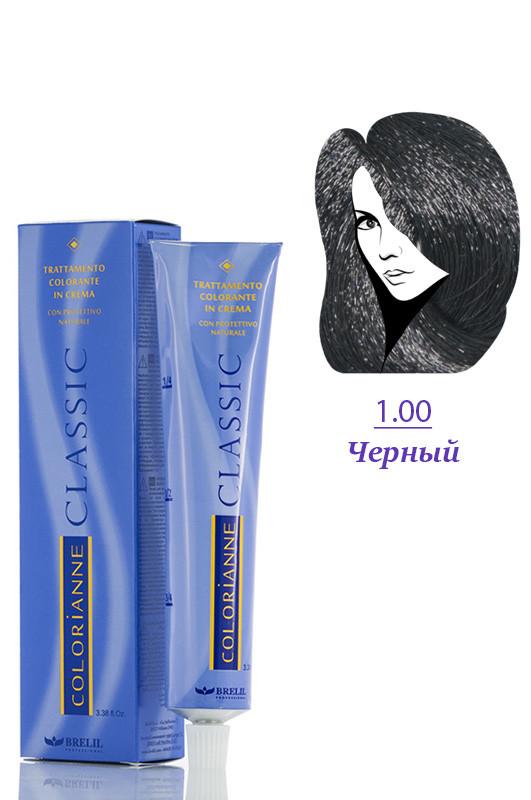 Brelil Colorianne Classic Краска для волос 1 чёрный 100 мл Код 12293