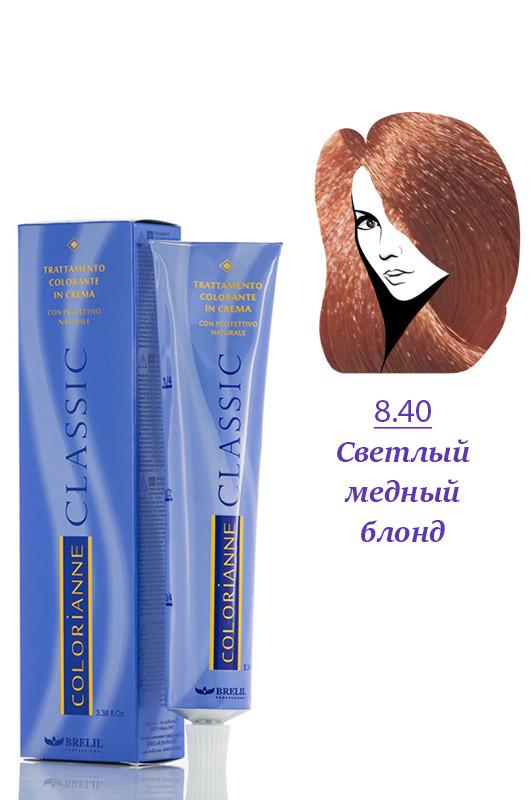 Brelil Colorianne Classic Краска для волос 8.4 светлый блондин медный 100 мл Код 12224