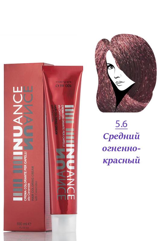 Nuance  Крем краска с керамидами, витаминами 5.6  огненно красный 100 мл Код 4022