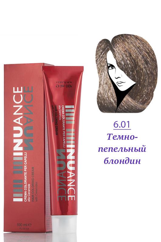 Nuance Крем краска для волос 6.01 пепельно темно русый 100 мл Код 4024