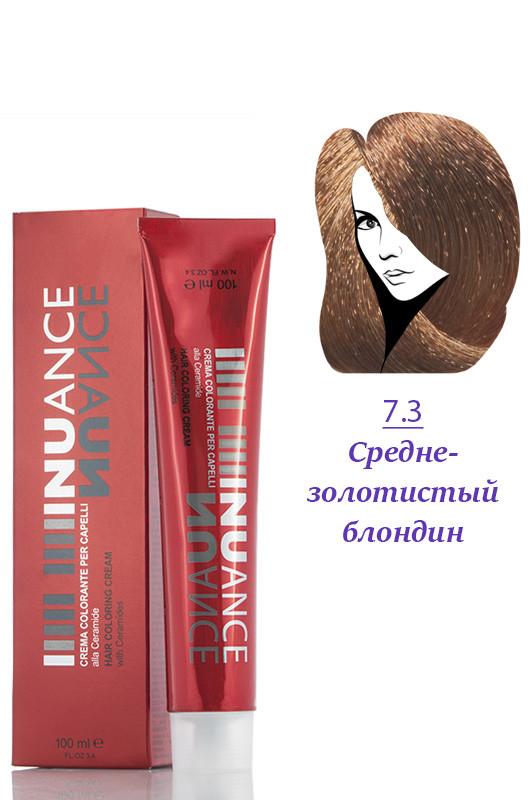 Nuance  Кремкраска с керамидами, витаминами 7.3  среднезолотисто русый  100 мл Код товара 4038