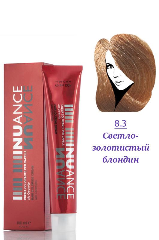 Nuance  Кремкраска с керамидами, витаминами 8.3  светлозолотистый русый  100 мл Код товара 4051