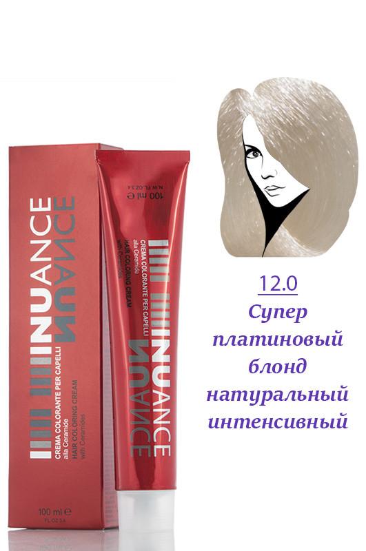 Nuance  Кремкраска с керамидами, витаминами 12.0  супер платиновый блондин  100 мл Код товара 13939