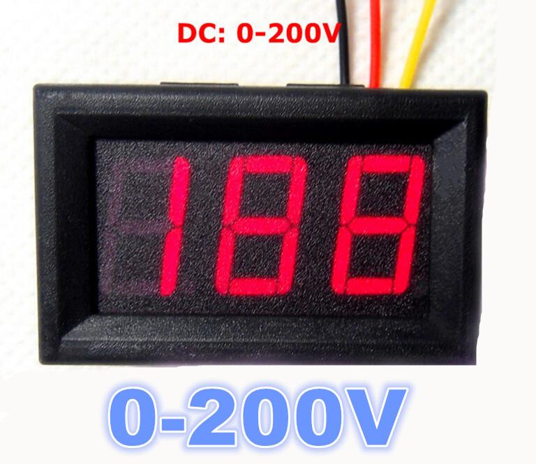 Цифровой вольтметр DC 200v - измерение  DC 4-30v питание
