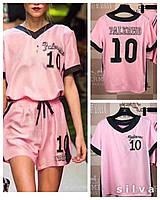 Атласный костюм футболка + шорты Palermo  (НКН)