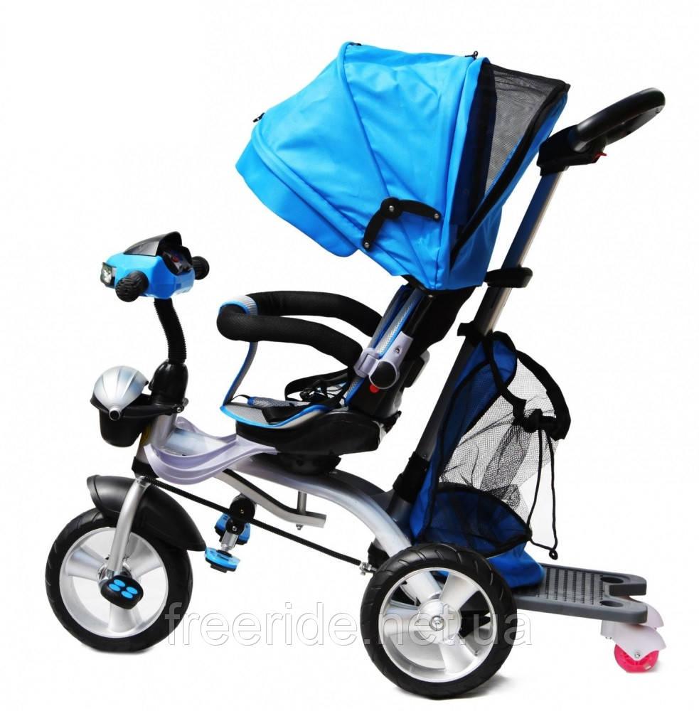 Детский трехколесный велосипед Baby trike CT-95 синий