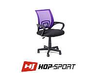 Кресло стул офисное вращающееся Hop-Sport Польша Фиолетовый