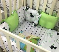 Бортик-защита «Little Dog» 6 + комплект постельного белья