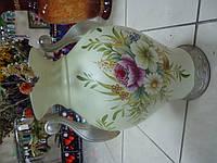 Ваза  светлая кухонная с цветами настольная Керамика