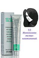 Echos Line Color  Крем  краска №3.0  интенсивно тёмно каштановый 100 мл Код 8493
