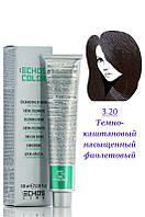Echos Line Color Крем краска №3.20 тёмнокаштановый нассыщенный фиолетовый 100 мл