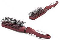 Titania - Щетка - для волос массажная красная