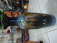Ваза  темная с китайским пейзажем напольная Керамика