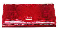 Кошелек женский Cossroll 03-9113 красный из лаковой кожи с монетницей снаружи