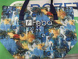 Сумка женская пляжная польская Feba синяя голубая зеленая 316, фото 3