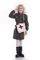 Детский костюм военная медсестра, рост 130-140 см