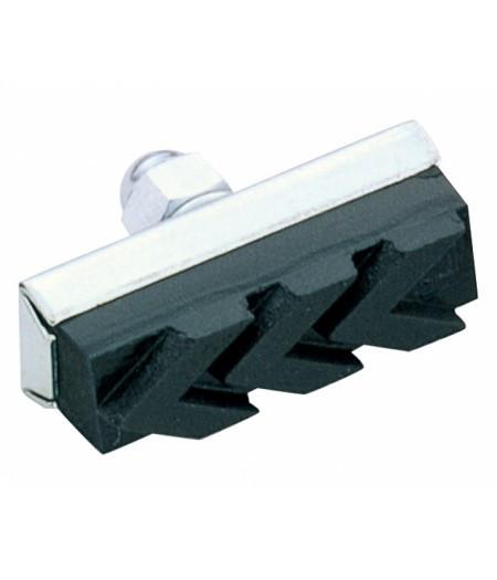 Колодки тормозные ALHONGA HJ-211M для калиперных тормозов, 40mm (25°) стальные, черные