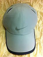 Бейсболка из плащёвки серая с чёрным кантом Nike 58-60