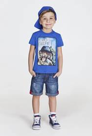 Джинсовые шорты бриджи капри на мальчика оптом