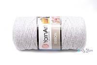 Трикотажная пряжа YanArt Ribbon №756 светло-серый меланж