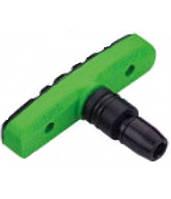 Колодки тормозные резьбовые ALHONGA HJ EN02-GR зелено-черные