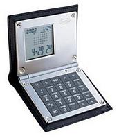 Калькулятор с будильником в черной коже 100ммх79мм Dalvey D00426.