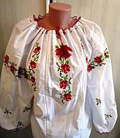 "Блуза-вышиванка ""Розы"" размер 50-52, фото 1"