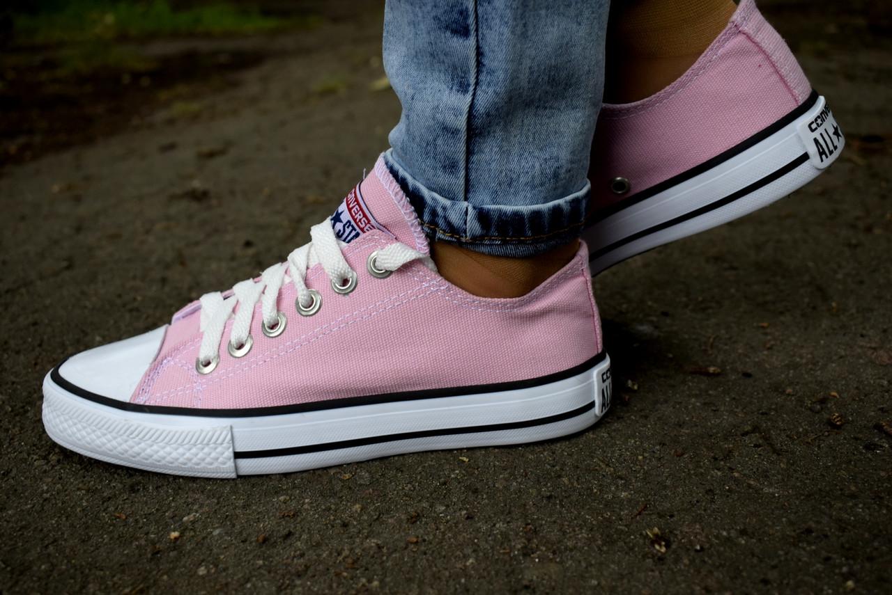Кеды Converse All Star розовые (конверс олл стар низкие) - Verona24 в  Киевской области 93188dc171e