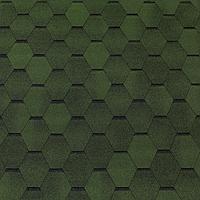 Битумная черепица ROOFCOLOR  ECO Hexagon  зеленый