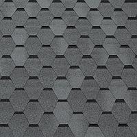 Битумная черепица ROOFCOLOR  ECO Hexagon  серый