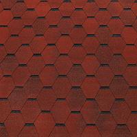 Битумная черепица ROOFCOLOR  ECO Hexagon  красный