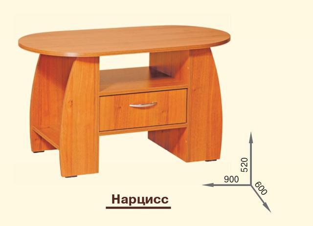 Стол журнальный Нарцисс (размеры)